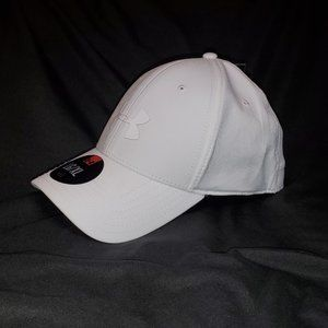 White Under Armour Stretch Fit Cap L/XL **NEW**